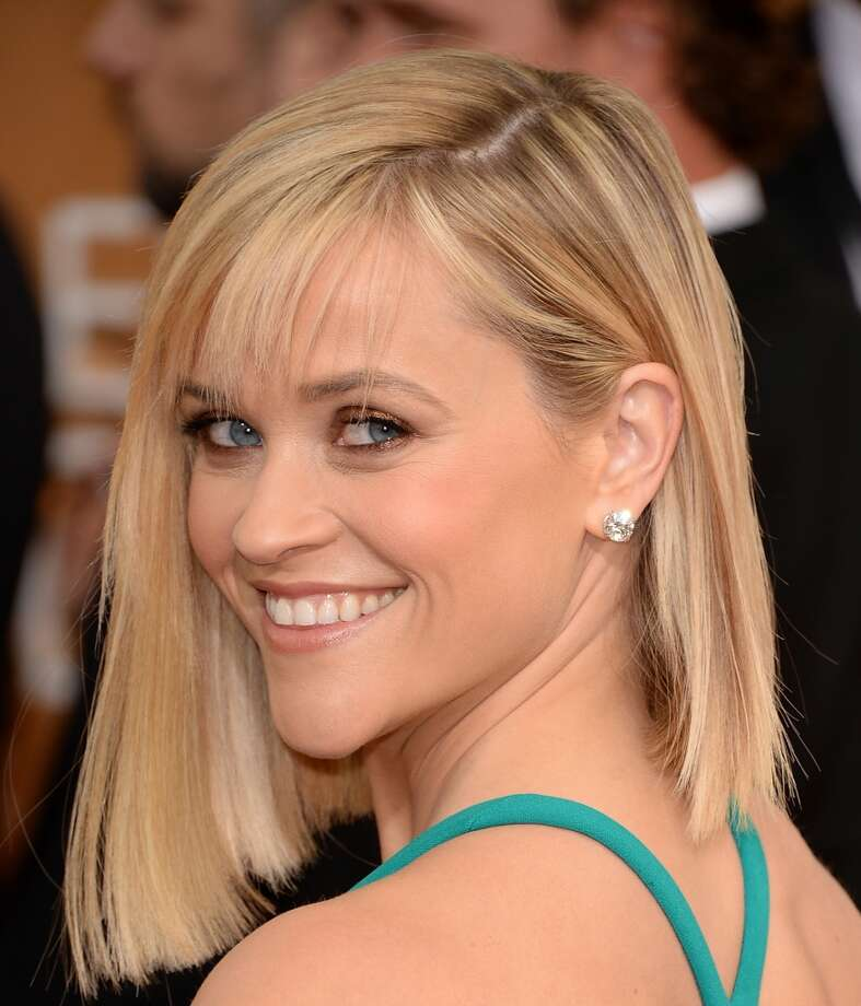 Bobs. Presenter Reese Witherspoon in Calvin Klein Collection. Photo: Jason Merritt, Getty Images