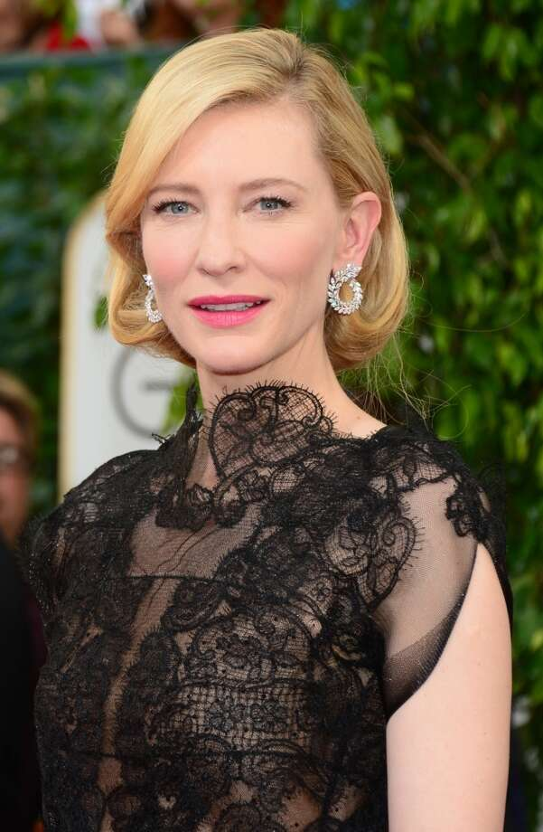 Bobs. Cate Blanchett (who won for her role in Blue Jasmine) in Armani Prive. Photo: FREDERIC J. BROWN, AFP/Getty Images