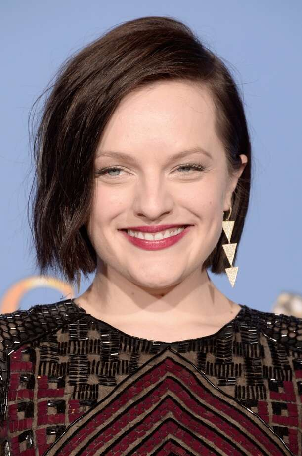 Bobs. Elisabeth Moss (who won for her role in Top of the Lake) in J Mendel Photo: Kevin Winter, Getty Images
