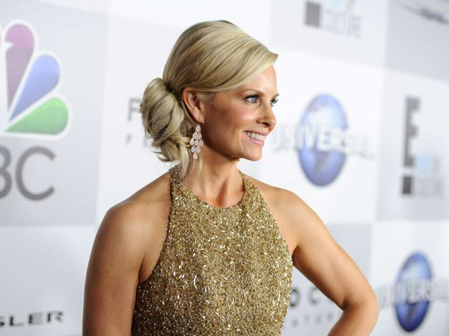 The bun. Monica Potter in Romona Keveza. Photo: Angela Weiss, Getty Images For NBCUniversal