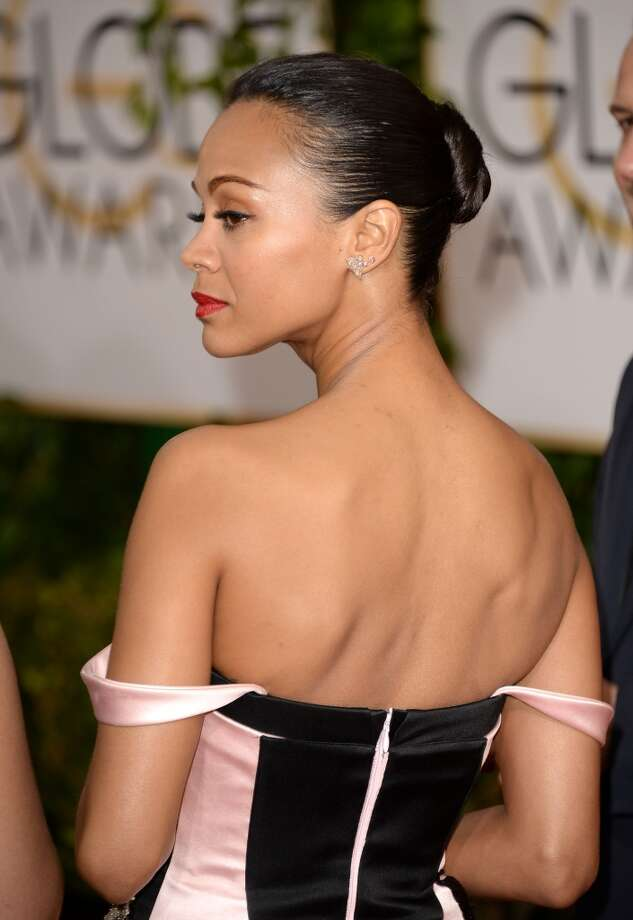 The bun. Zoe Saldana in Prabal Gurung. Photo: Jason Merritt, Getty Images