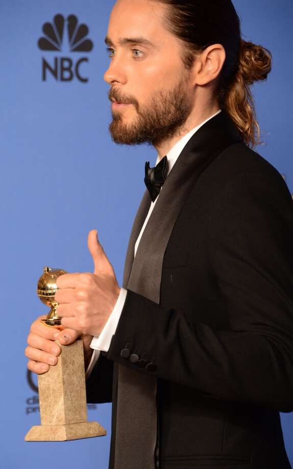 The bun. Jared Leto (who won for his role in Dallas Buyers Club). Photo: ROBYN BECK, AFP/Getty Images