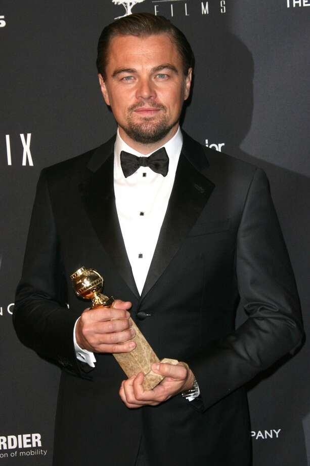 Tanner. Leonardo DiCaprio (who won for his role in Wolf of Wall Street) in Giorgio Armani. Photo: Tommaso Boddi, Getty Images