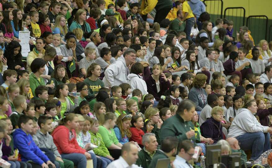 Approximately 1,500 grade school students enjoyed a special Kids Day event where the Siena women's b