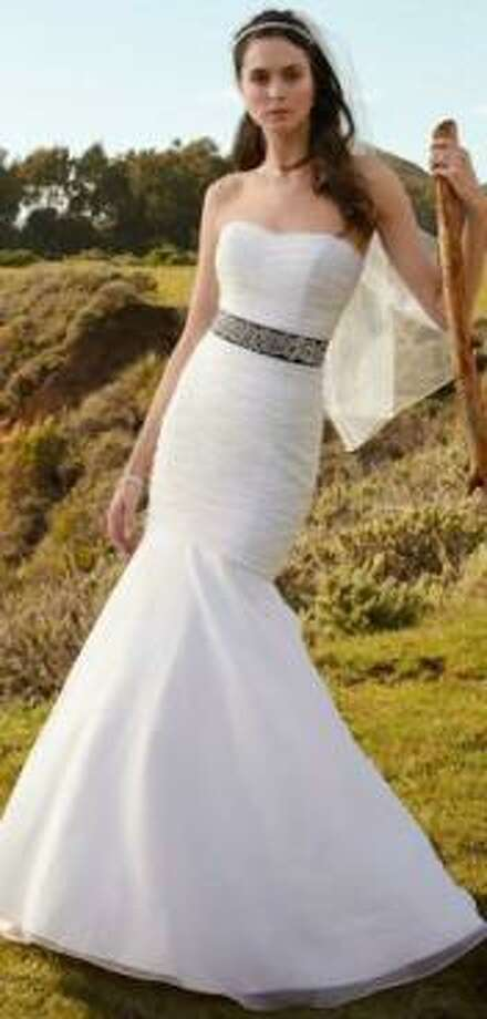David's Bridal version of Jlaw's simple white frock.