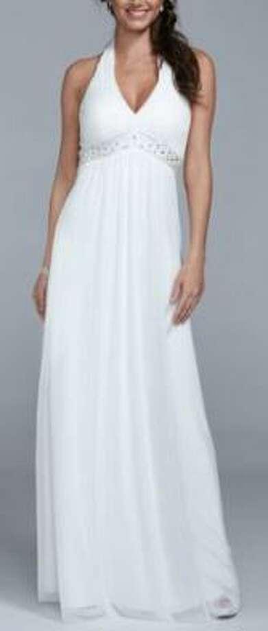 David's Bridal version of Margot Robbie's dress.