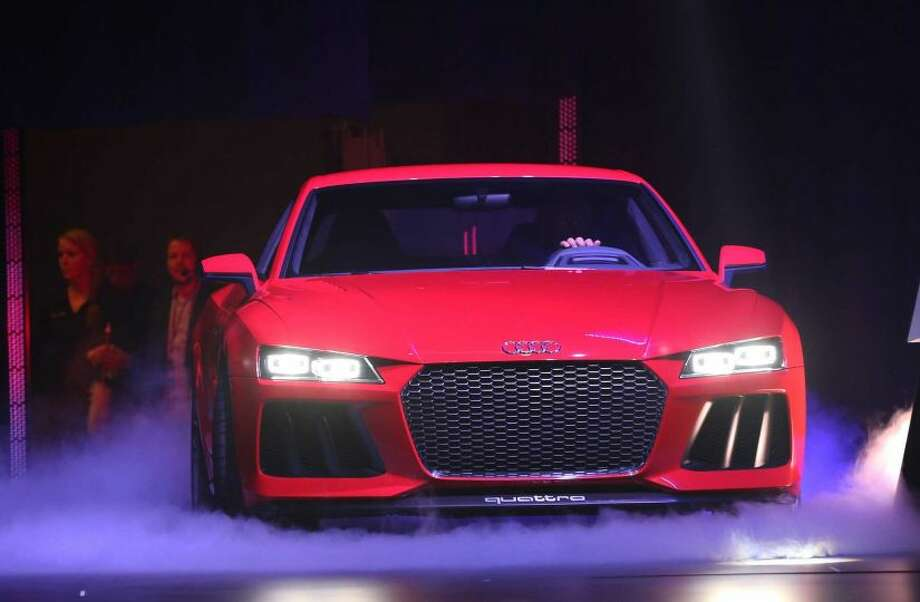 The new Audi Quattro Sport Laserlight Concept. Photo: GABE GINSBERG / GETTY IMAGES FOR AUDI