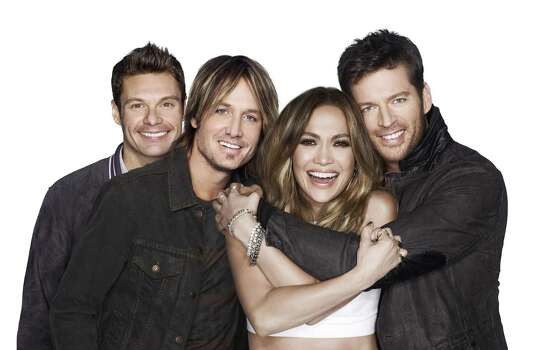 American Idol XIII stars, from left, host Ryan Seacrest, and judges Keith Urban, Jennifer Lopez and Harry Connick, Jr. The show returns with a two-night, four-hour premiere Wednesday, Jan. 15, 2014, and Thursday, Jan. 16. (Michael Becker/FOX Broadcasting Co./MCT) Photo: Handout, McClatchy-Tribune News Service / FOX Broadcasting Co.