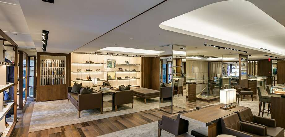 A provided photo if the interior of the Ferragamo boutique store on Post Street in San Francisco. Investigators are searching for a group of thieves who made off with  more than $10,000 from a luxury department store in San Francisco  Tuesday evening. Photo: Ferragamo