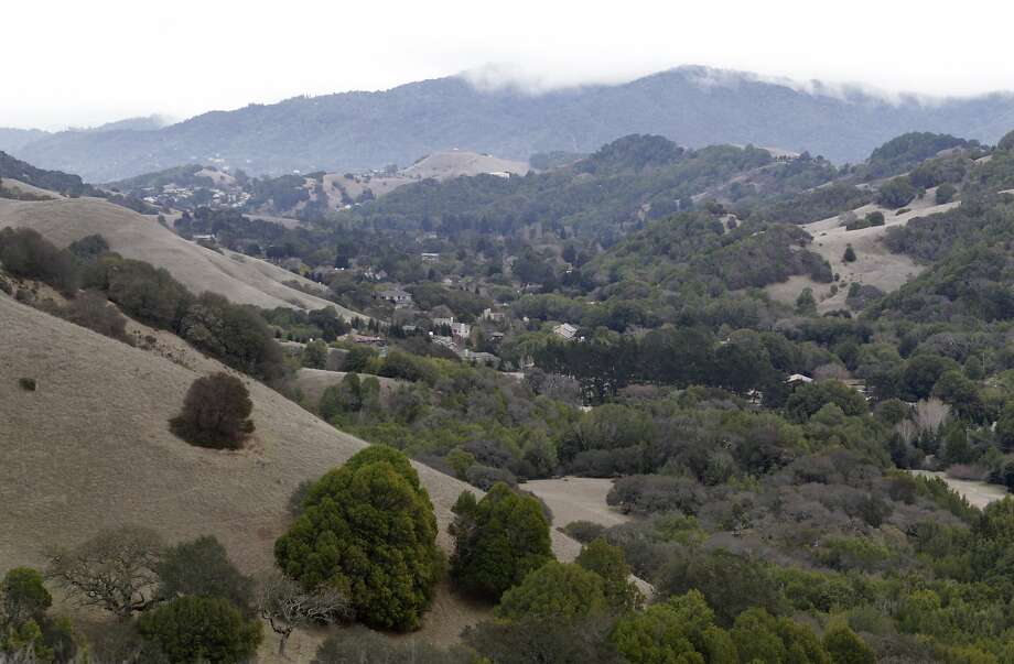 The Big Rock trail offers a sweeping view of Lucas Valley in San Rafael. Photo: Paul Chinn, The Chronicle