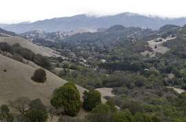 The Big Rock Ridge trail offers a sweeping view of Lucas Valley in San Rafael, Calif. on Saturday, Jan. 11, 2014.