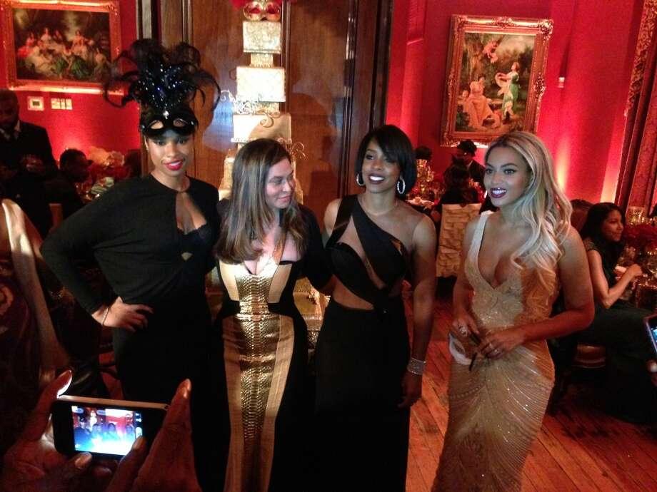 Jennifer Hudson, Tina Knowles, Kelly Rowland and Beyonce. Photo: Joy Sewing