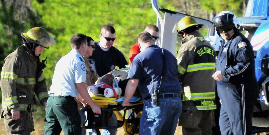 A Lamar Institute of Technology student is being treated for non-life threatening injuries after a fall from on the Silsbee campus on Monday, Jan. 13, 2014. Photo by Cassie Smith/@smithcassie Photo: Cassie Smith