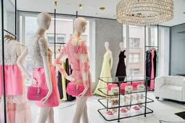 The new Valentino boutique at the corner of Grant Avenue and Geary Street features 10,000 square feet of retail space on four levels, and features womenswear as well as menswear, the only Valentino boutique in the U.S. to do so. The architect was David Chipperfield.