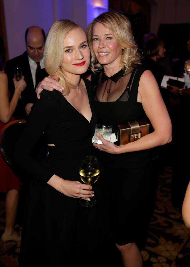 Diane Kruger and Chelsea Handler attend the 3rd annual Sean Penn & Friends HELP HAITI HOME Gala benefiting J/P HRO presented by Giorgio Armani at Montage Beverly Hills on January 11, 2014 in Beverly Hills, California. Photo: Joe Scarnici, Getty Images For J/P Haitian Relief Organization