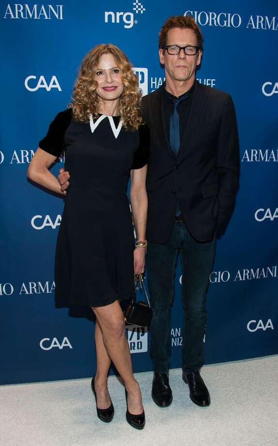 Kyra Sedgwick and Kevin Bacon arrive at the 3nd Annual Sean Penn & Friends HELP HAITI HOME Gala Benefiting J/P HRO Presented By Giorgio Armani at Montage Hotel on January 11, 2014 in Los Angeles, California. Photo: Valerie Macon, Getty Images