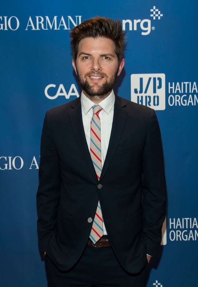 Adam Scott arrives at the 3nd Annual Sean Penn & Friends HELP HAITI HOME Gala Benefiting J/P HRO Presented By Giorgio Armani at Montage Hotel on January 11, 2014 in Los Angeles, California. Photo: Valerie Macon, Getty Images