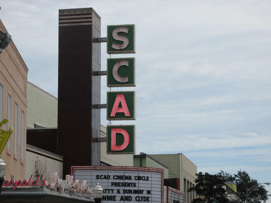 Two landmarks in Savannah, Leopold's Ice Cream Parlor and SCAD cinema. Photo: Sarah Diodato