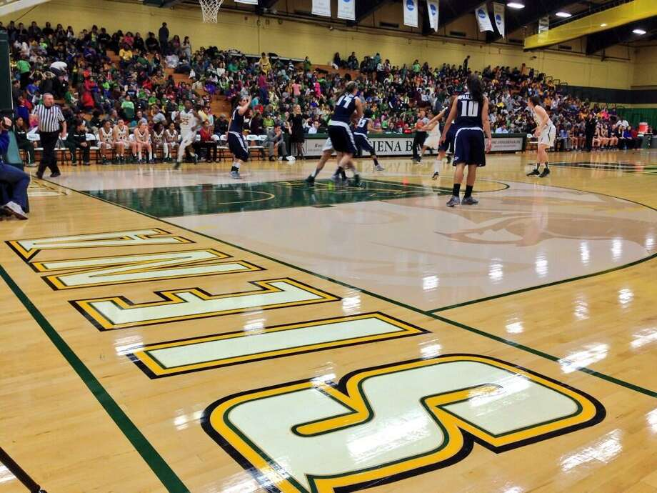 About 1,500 kids attended Monday morning's Siena women's basketball game against Monmouth at the Times Union Center in Albany. (Skip Dickstein/Times Union)