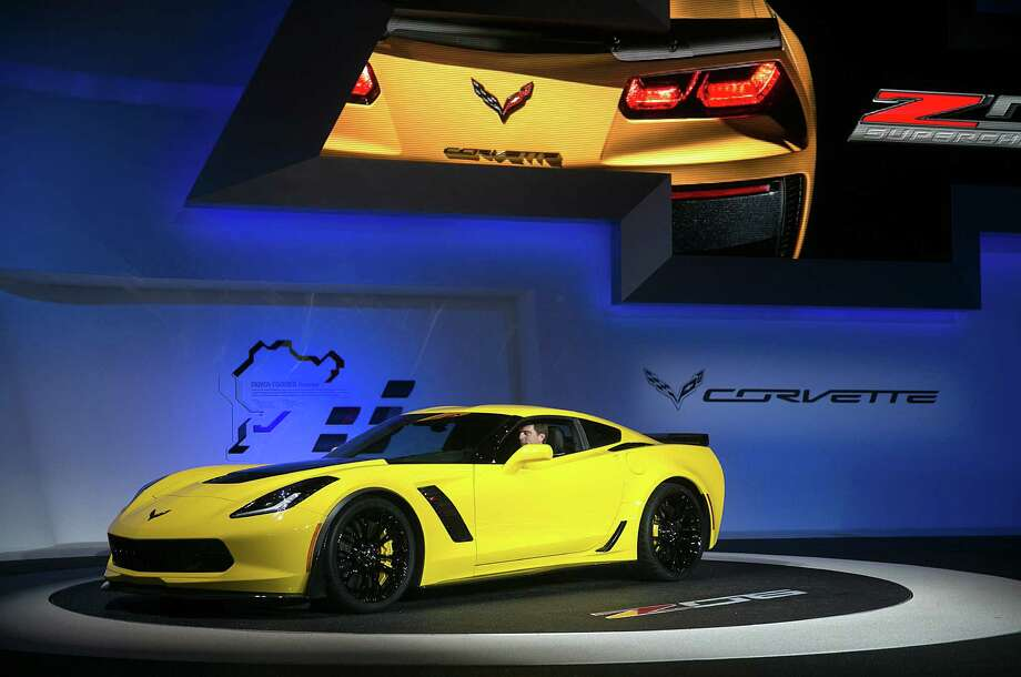Houston-area auto dealers expect 2014 to be strong. Among the new products coming to their lots is the Chevrolet Corvette Z06. which was unveiled at Detroit's auto show. The Corvette helped Chevrolet sweep the North American Car and Truck of the Year awards. Photo: Andrew Harrer / © 2014 Bloomberg Finance LP