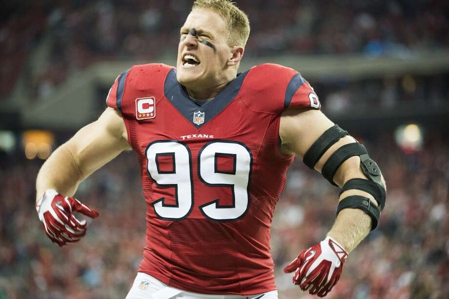 "Houston Texans defensive end J.J. Watt recently jumped 5' 1"". That's just as tall or taller than a handful of celebrities in Hollywood. Take a look at the stars the football player could jump over if he really had to.  Photo: Smiley N. Pool, Houston Chronicle"