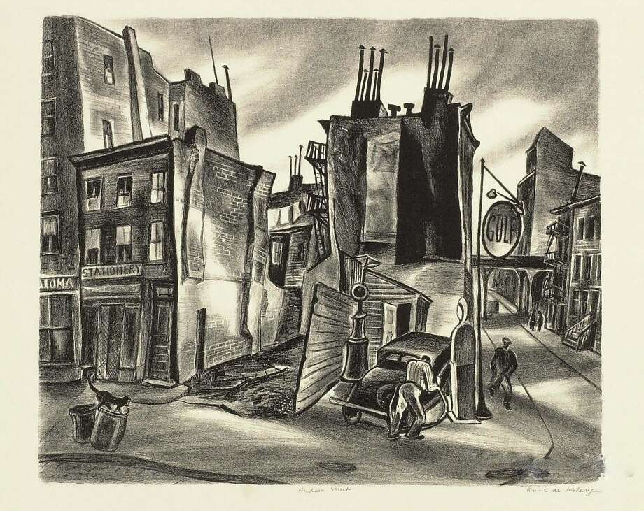 """Hudson Street"" by Anne de Kohary will be among the art pieces on exhibit in ""Art of the American Depression 1935-1942"" at the New Canaan Library. Photo: Contributed Photo, Contributed / New Canaan News Contributed"