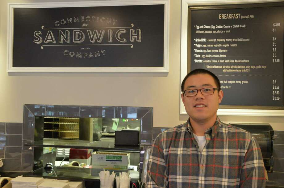 Eugene Chun switched careers, going from financing to food and opened the Connecticut Sandwich Company at 78 Pine St. in New Canaan. Jarret Liotta/For the New Canaan News Photo: Contributed Photo, Contributed / New Canaan News Contributed