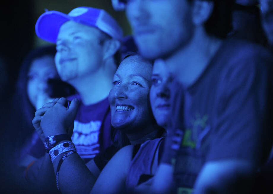 Fans enjoy the Dave Matthews Band concert from the pit at Saratoga Performing Arts Center June 8, 2012 in Saratoga Springs, N.Y.  (Lori Van Buren / Times Union) Photo: Lori Van Buren, Albany Times Union / 00017954A
