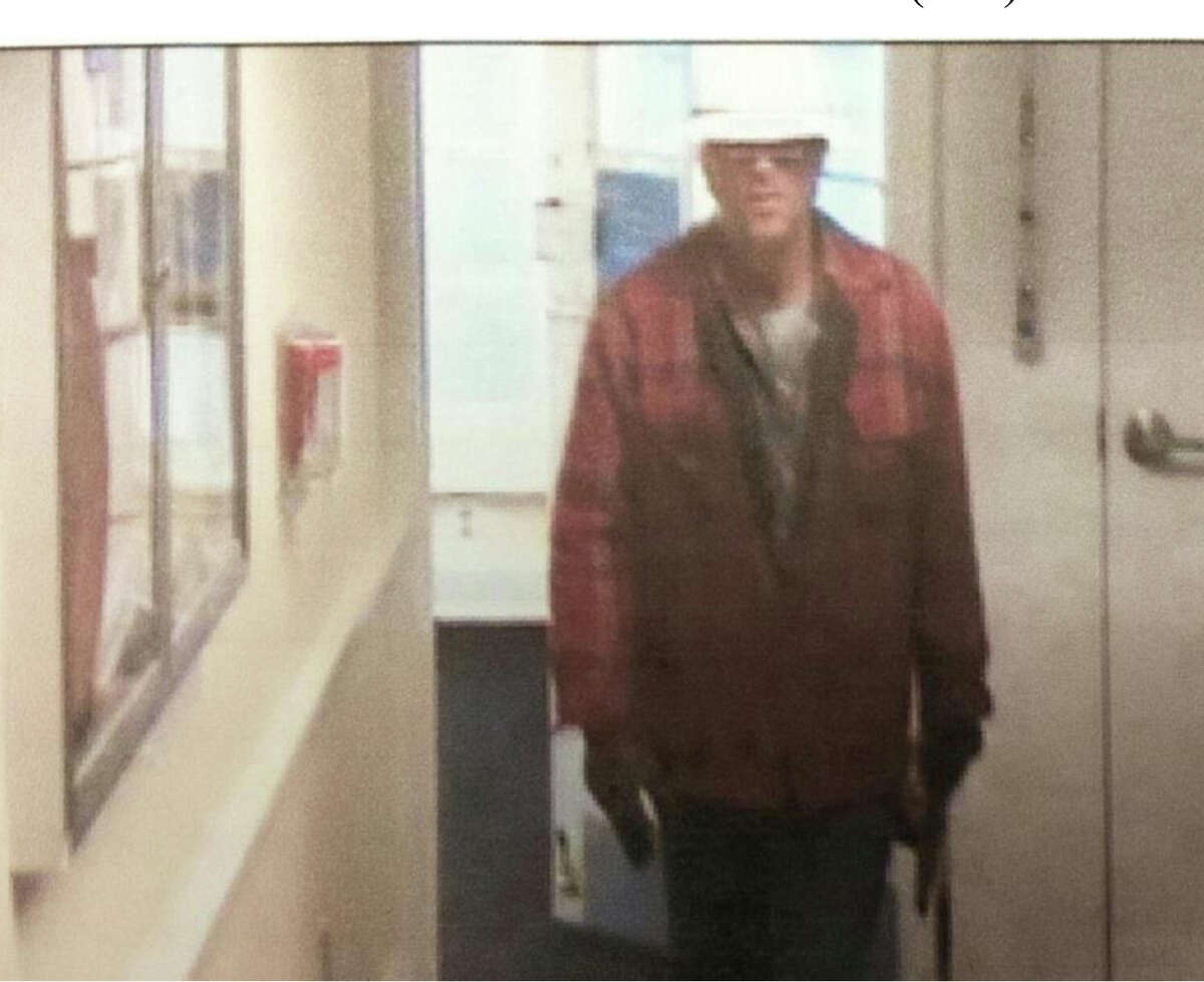 The suspect in the robbery of The Milford Bank on Bridgeport Avenue in Milford, on Tuesday, Jan. 14, 2014