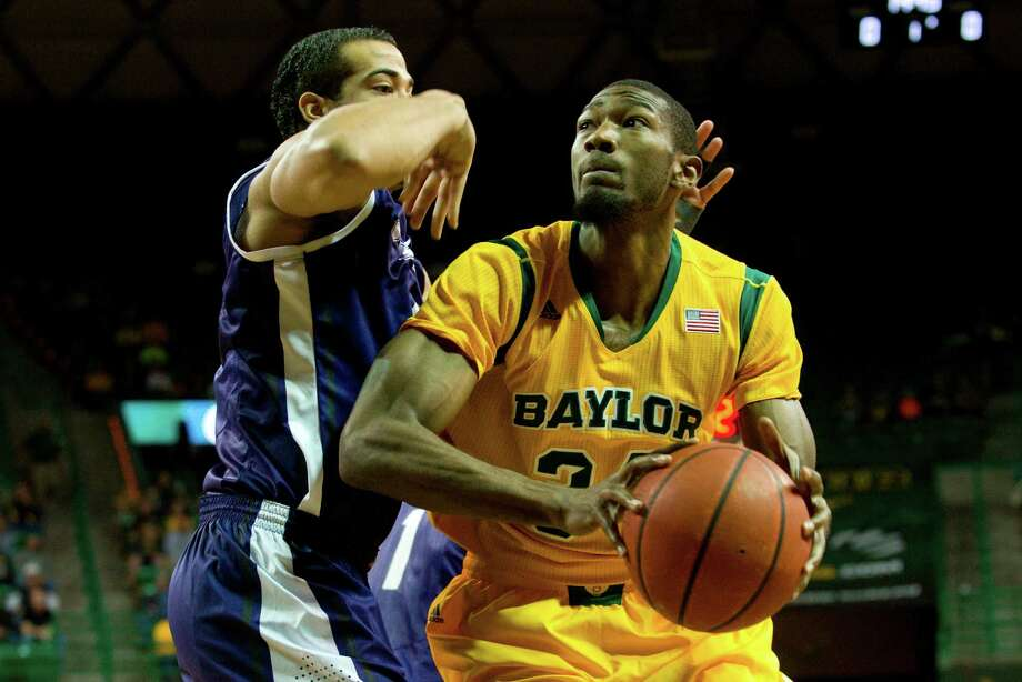 WACO, TX - JANUARY 11: Cory Jefferson #34 of the Baylor Bears drives to the basket against the TCU Horned Frogs on January 11, 2014 at the Ferrell Center in Waco, Texas. Photo: Cooper Neill, Getty Images / 2014 Getty Images