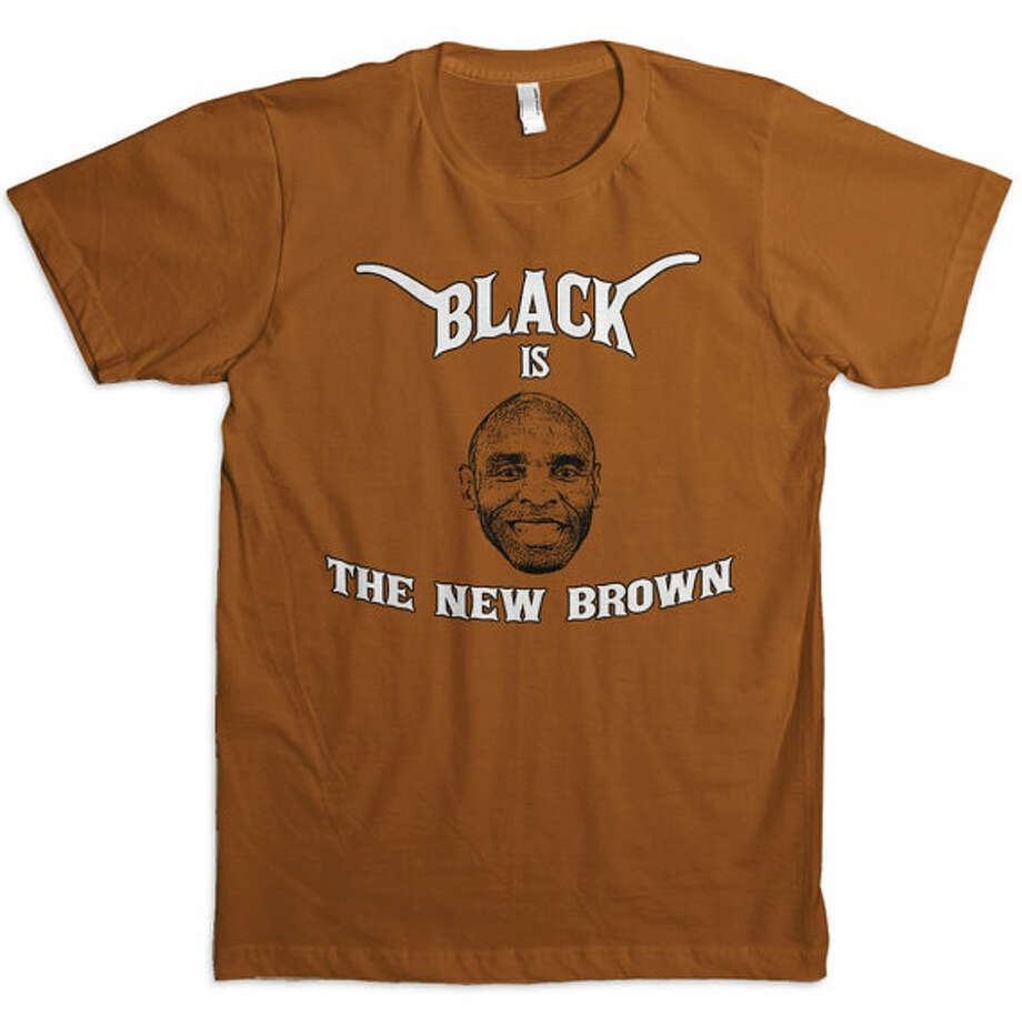 A T-shirt features new University of Texas head football coach Charlie Strong. Photo: Courtesy Etsy