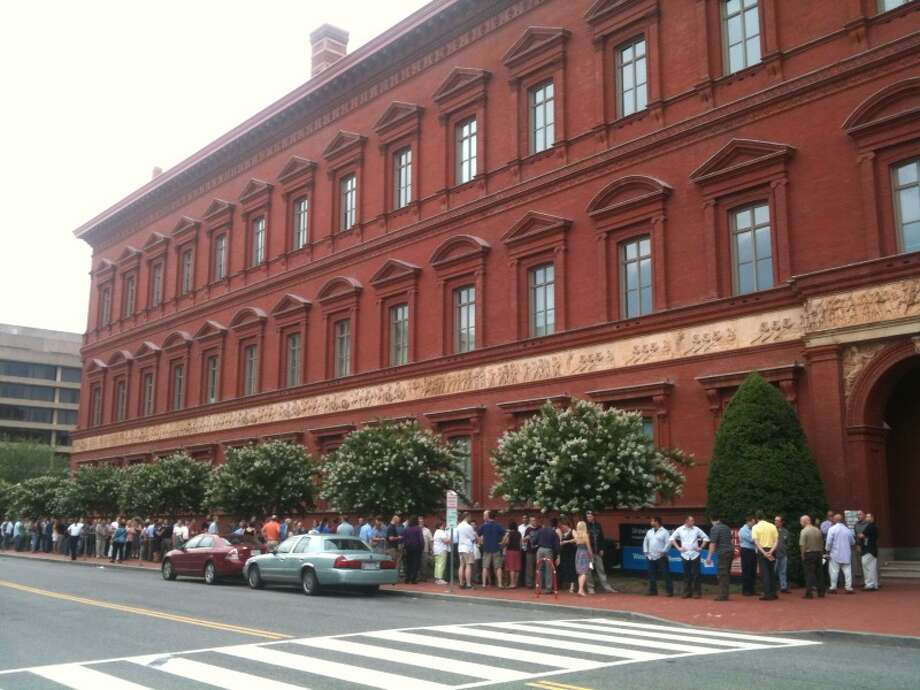 Big Brew organizer Clifton McDerby also is taking cues from the Brewers Association-sponsored Savor, a popular food-beer pairing event in Washington, D.C. I went to the inaugural one, in 2010, and this was the line waiting to get in. Photo: Ronnie Crocker, Beer, TX