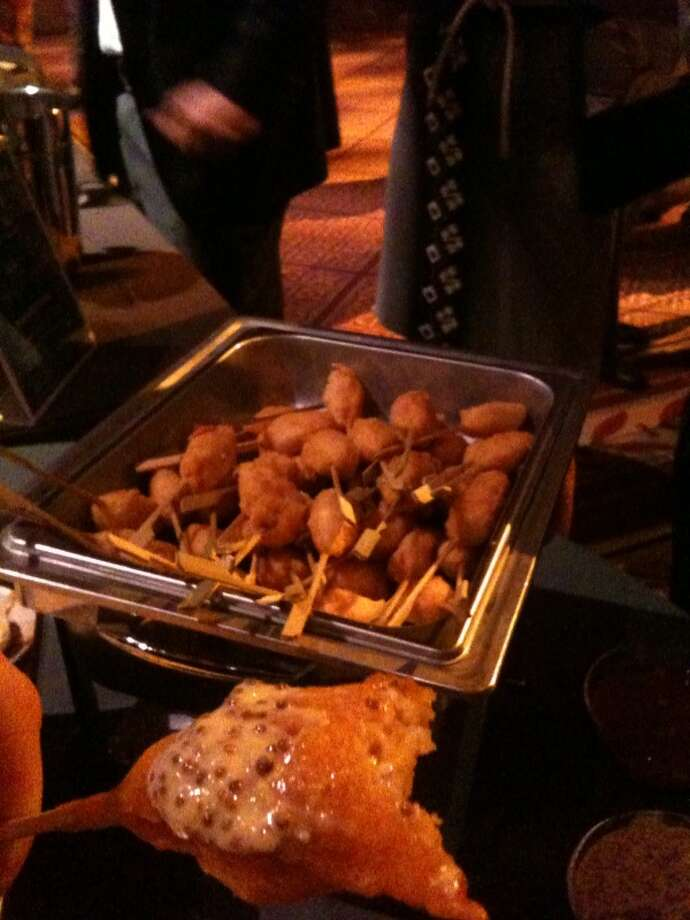 Gourmet corndogs at Savor. Photo: Ronnie Crocker, Beer, TX