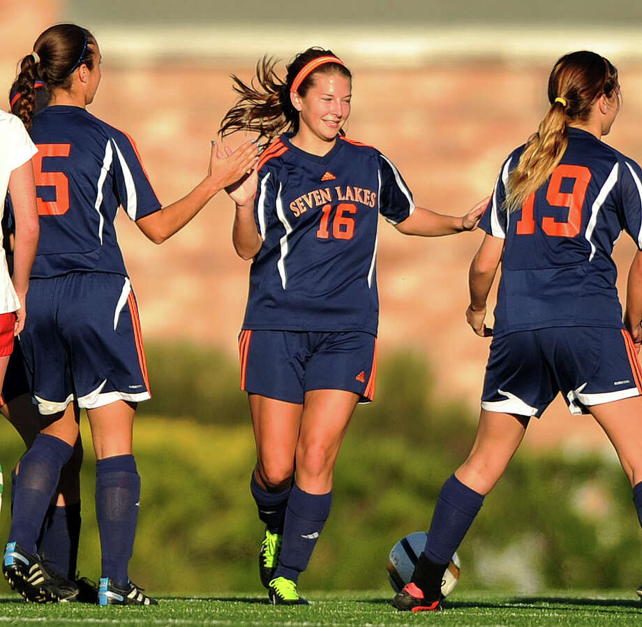 Lauren Harrington (16) is one of the area girls soccer players trying to balance a schedule that has her available for Seven Lakes High School five days a week and pulling duty for her club team the other two days. Boys players are not given the option to do both. Photo: Eric Christian Smith, Freelance