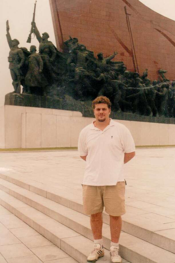 Me in front of the Peoples War Memorial