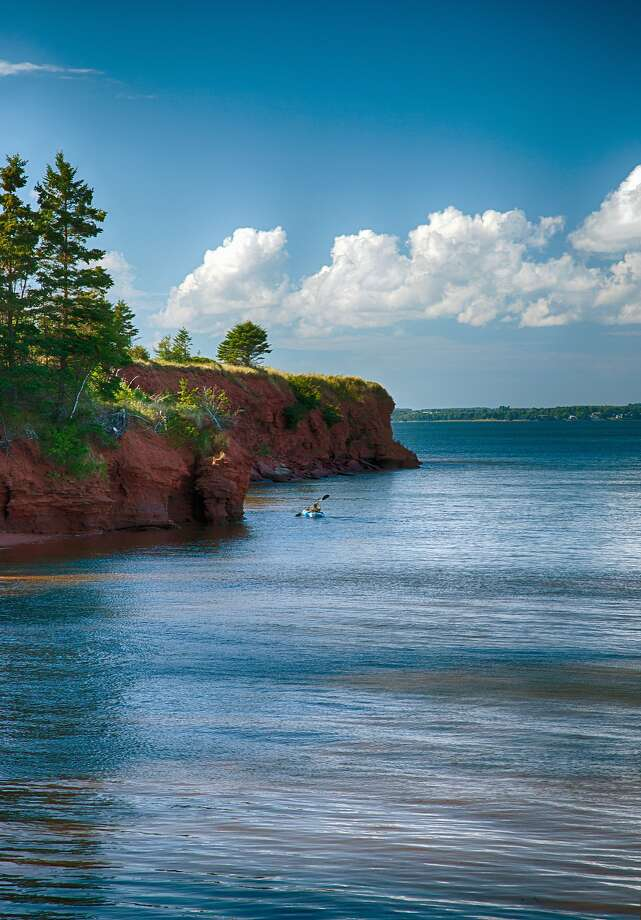 A kayak outing is one way to enjoy your ship's stop at Prince Edward Island. Photo: Elisabeth Pollaert Smith, Getty Images