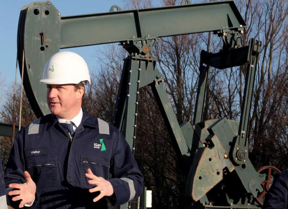 Great Britain Prime Minister David Cameron visits the Total Oil Depot shale drilling site in Gainsborough, Lincolnshire in England on January 13, 2014.  French company Total confirmed it will invest about £30 million in the shale drilling project in Gainsborough, and it is believed to be the first major energy firm to invest in U.K. fracking. Prime Minister David Cameron indicated councils would receive a significant financial boost from the business rates collected from controversial shale gas schemes, with local authorities receiving 100 percent of the business rates, double the usual 50 percent. Photo: WPA Pool, Getty Images