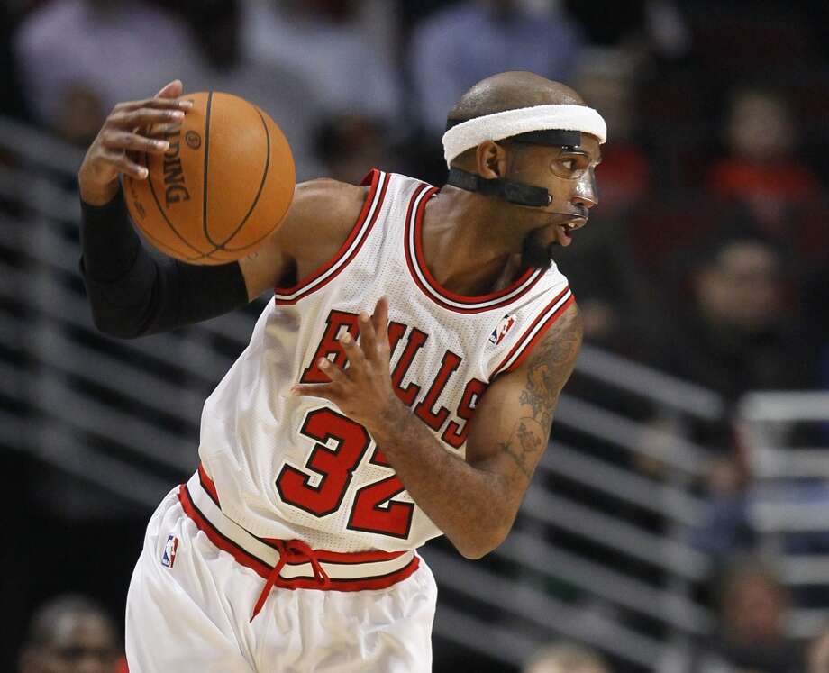 Richard Hamilton  Position: Shooting guard  Previous team: Chicago Bulls  Height/weight: 6-7, 195 pounds  NBA experience: 14 years  The three-time All-Star, who helped the Pistons win the 2004 title, was injury prone the past two seasons. Photo: Charles Rex Arbogast, Associated Press