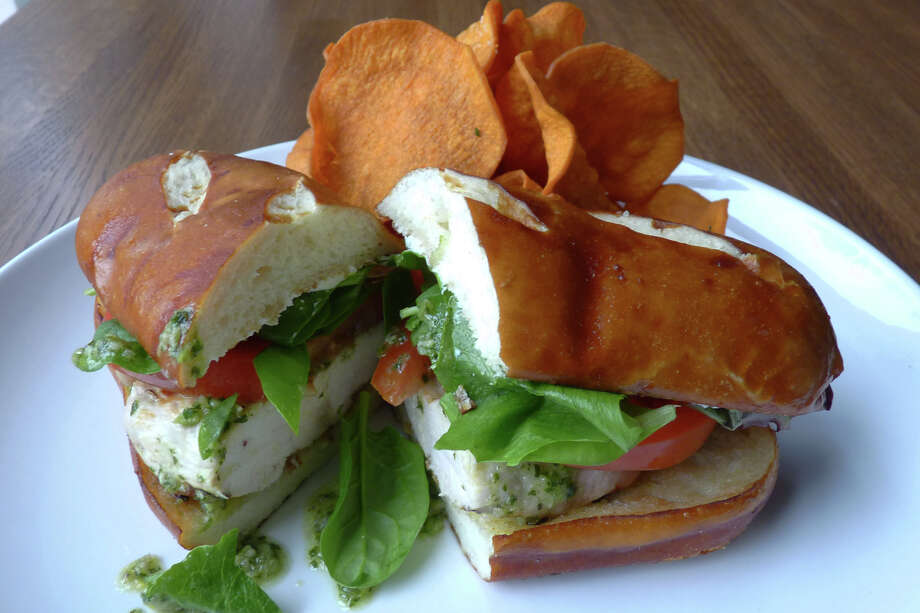 Grilled Pesto Chicken Sandwich at Dish Society Photo: The Epicurean Publicist / ONLINE_YES