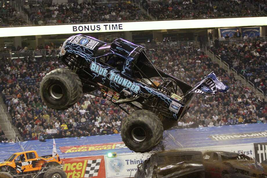 Blue Thunder comes to town with the Monster Jam show in Reliant Stadium. Photo: Eric Stern / DirectToArchive