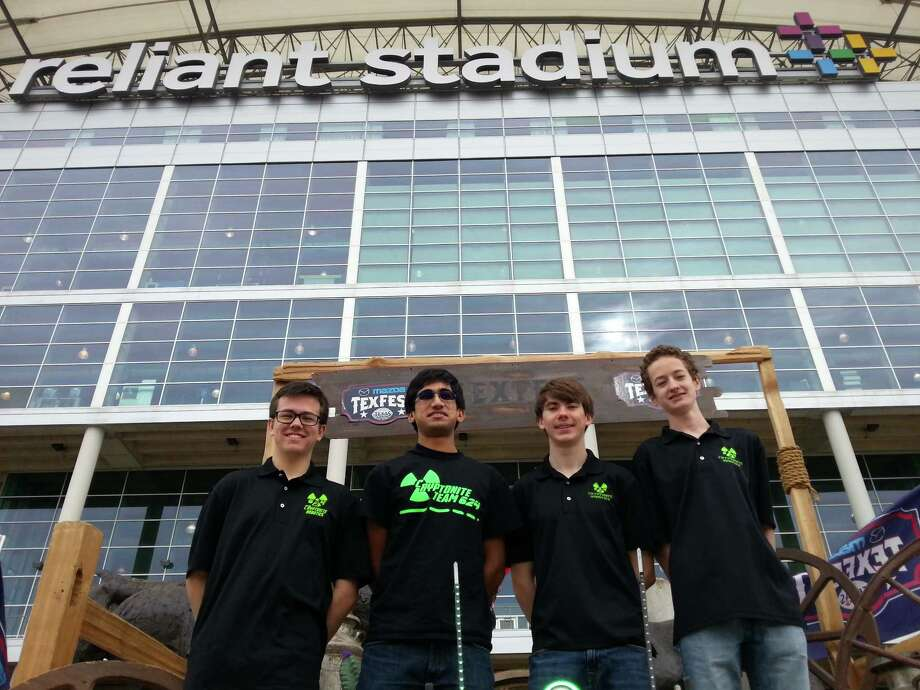CRyptonite team members, from left, Johnny Goforth, Shayan Baig, Dylan Bray and Justin Kleiber. Photo: Photo Courtesy Of Cinco Ranch High School
