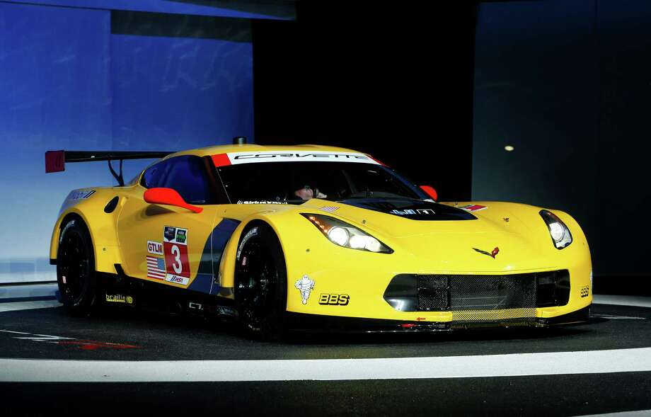 The Chevrolet Corvette C7-R debuts at media previews during the North American International Auto Show. Photo: Paul Sancya, AP / AP