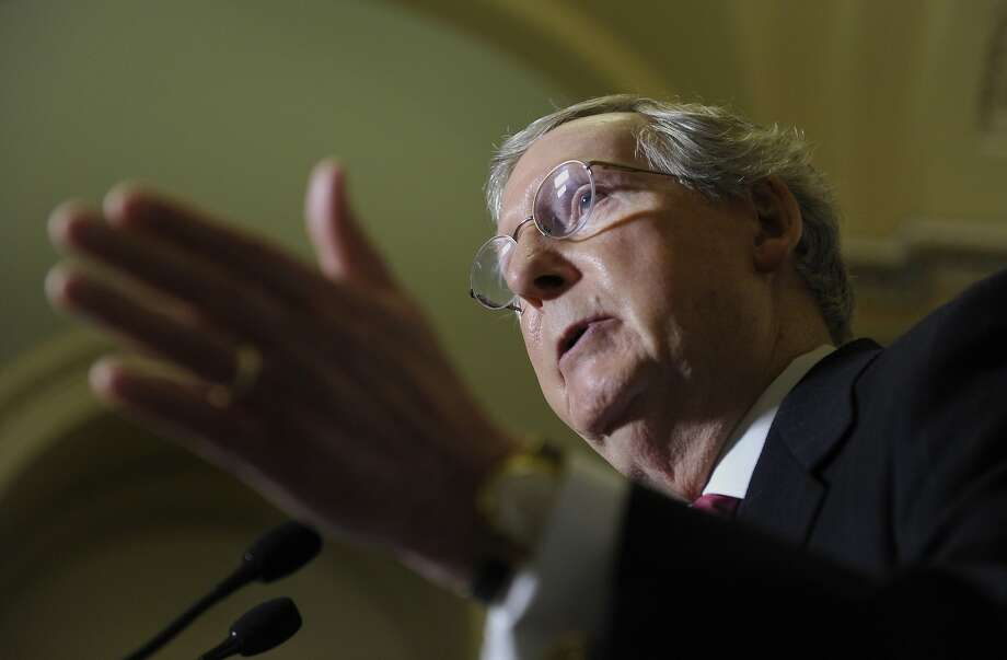 Minority Leader Mitch McConnell, R-Ky., and his Senate colleagues are expected to pass the spending bill no later than Saturday. Photo: Susan Walsh, Associated Press
