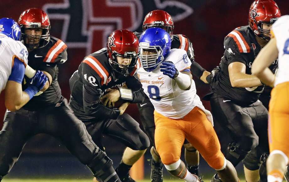 Demarcus Lawrence  Position: Defensive end  School: Boise State Photo: Lenny Ignelzi, Associated Press