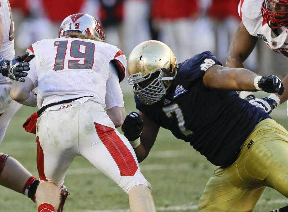 Stephon Tuitt  Position: Linebacker  School: Notre Dame Photo: Frank Franklin II, Associated Press