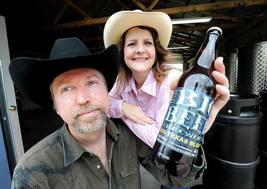 John McKissack and his wife, Tammy McKissack, are the founders of the Texas Big Beer Brewery in Buna. Photo: TAMMY MCKINLEY