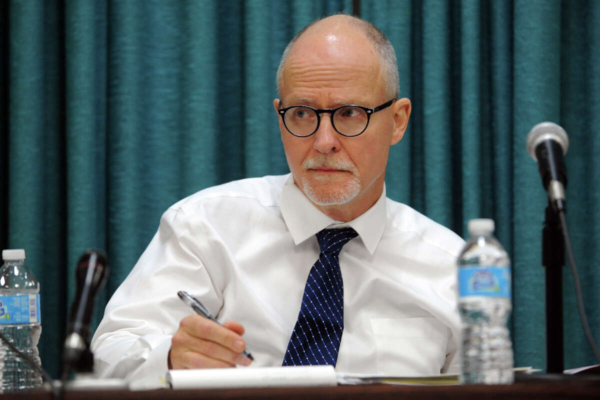 Superintendent of Schools Paul Vallas attends a Board of Education meeting, in Bridgeport, Conn., Nov. 12, 2013. Vallas has announced that he will leave his post to run for lieutenant goverrnor in Illinois.