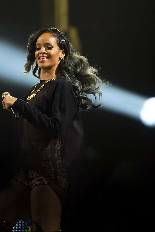 Rihanna's coiffure contains chic streaks of silver. Photo: Nigel Waldron, Getty Images