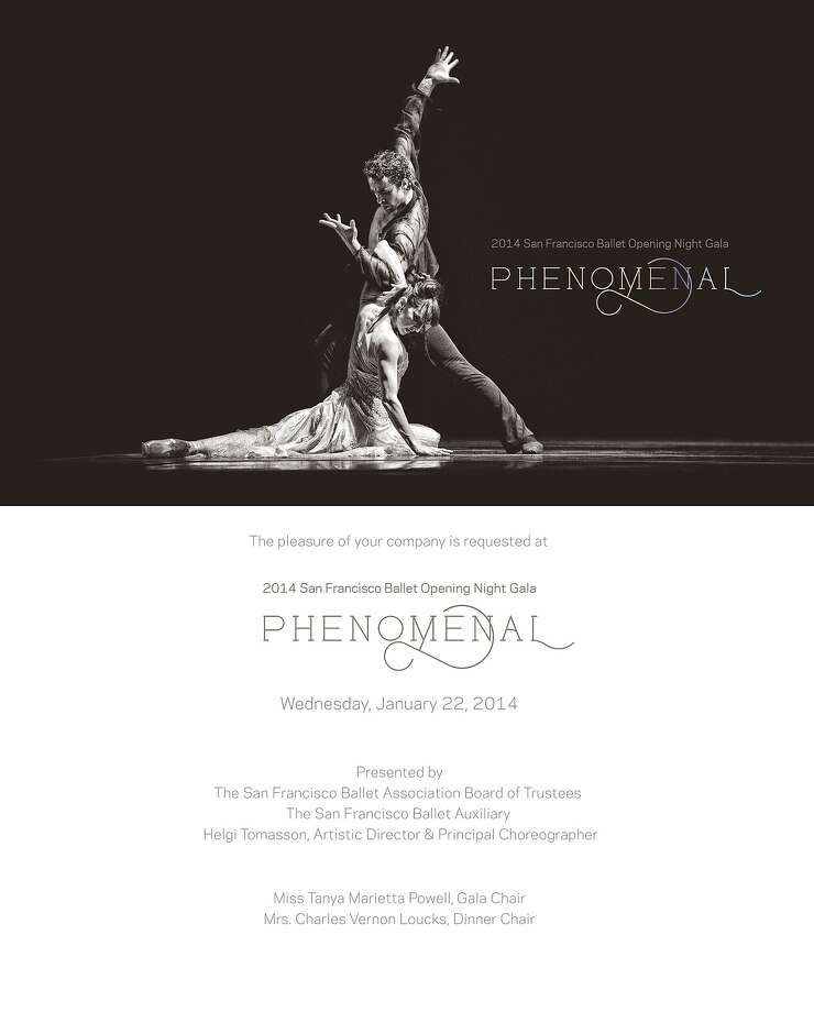 The San Francisco Ballet's 81st season-opening gala Phenomenal is Jan. 22. Photo: San Francisco Ballet