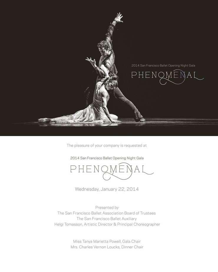 The San Francisco Ballet's 81st season-opening gala Phenomenal is Jan. 22. Photo: San Francisco Ballet